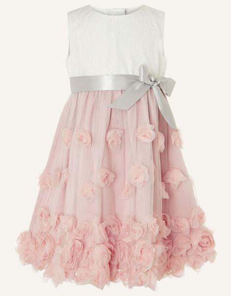 Baby Ianthe 3D Flower Dress Pink, Pink (DUSKY PINK), large