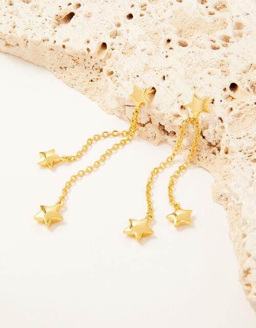Star Drop Tassel Earrings , , large