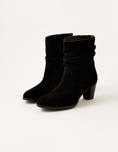 Slouch Suede Ankle Boots Black, Black (BLACK), large