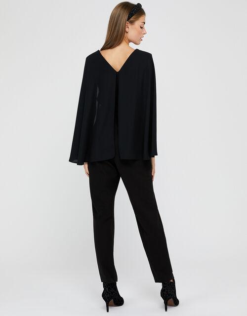 Kris Cape Jumpsuit, Black, large