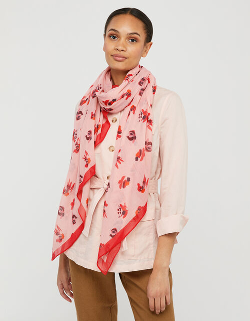 Betty Brushstroke Floral Scarf in Recycled Polyester, , large