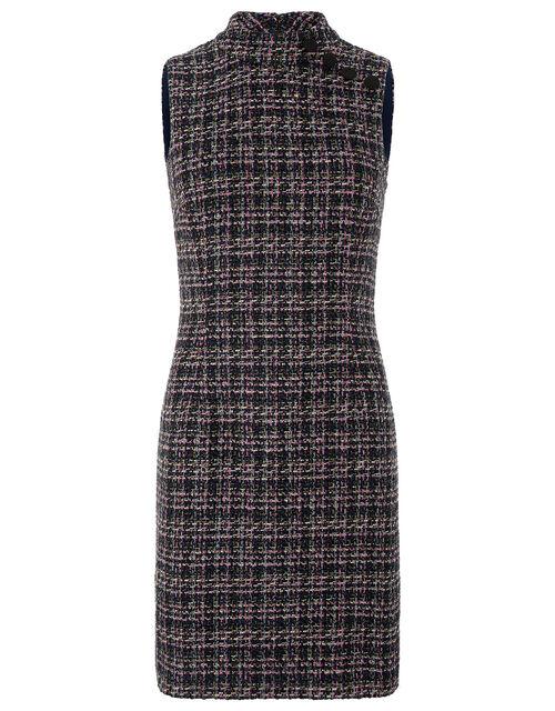 Felissa Tweed Dress, Purple (PURPLE), large