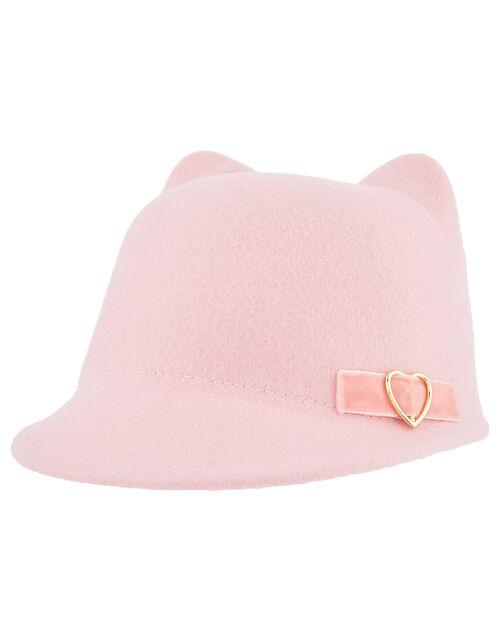 Penny Ribbon Cat Bowler Hat, Pink (PINK), large
