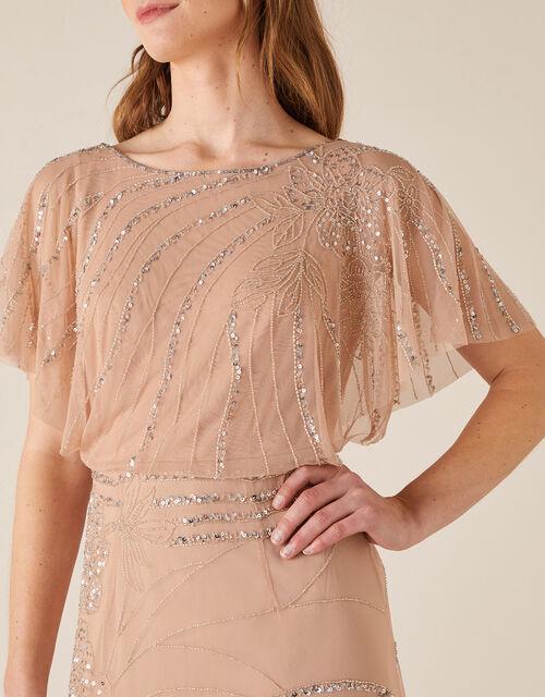 Autumn Floral Embellished Maxi Dress, Pink (PINK), large