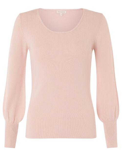 Sara Scoop Neck Knit Jumper, Pink (BLUSH), large