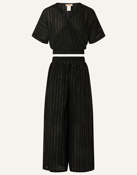 Sparkle Top and Trousers Set Black, Black (BLACK), large