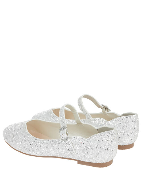Florabella Sequin Ballerina Shoes, Silver (SILVER), large