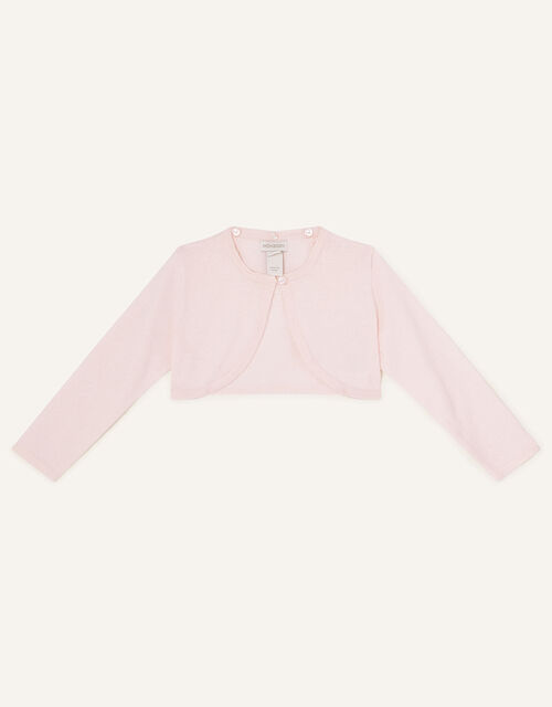 Baby Fluffy Collar Super-Soft Cardigan, Pink (PINK), large