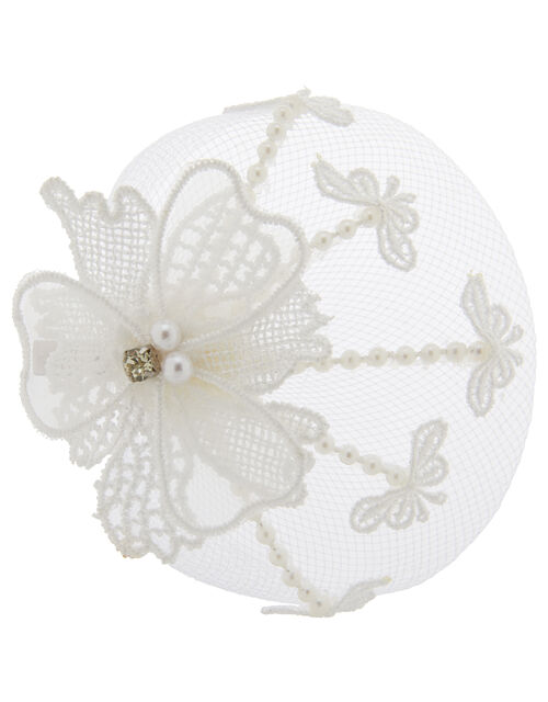 Lacey Flower Net Hair Clip, , large