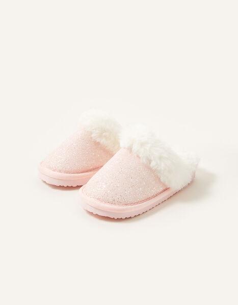 Glitter Slider Slipper Pink, Pink (PALE PINK), large