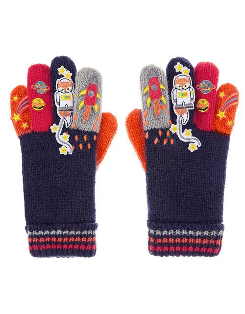 Space Fox Knit Gloves, Multi (MULTI), large
