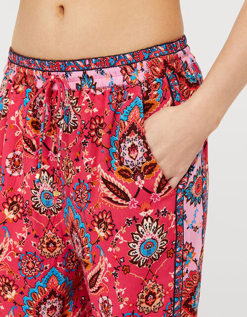 Tamalia Printed Trousers in LENZING™ ECOVERO™, Pink (PINK), large