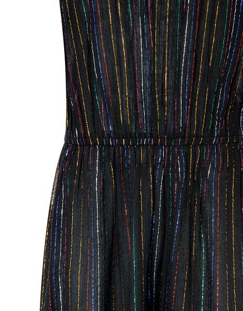 Rayne Sparkle Wide-Leg Jumpsuit, Black (BLACK), large
