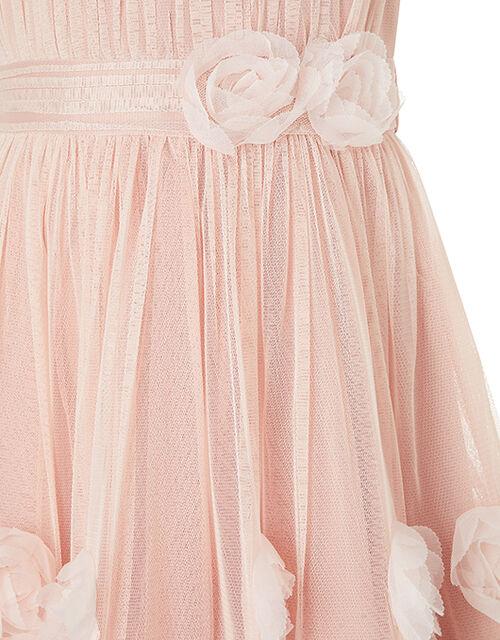 Cascade Roses Hanky Hem Dress, Pink (DUSKY PINK), large