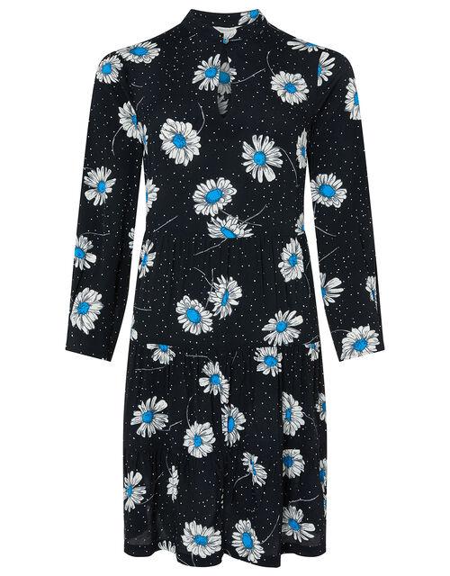 Daniella Daisy Print Dress, Black (BLACK), large