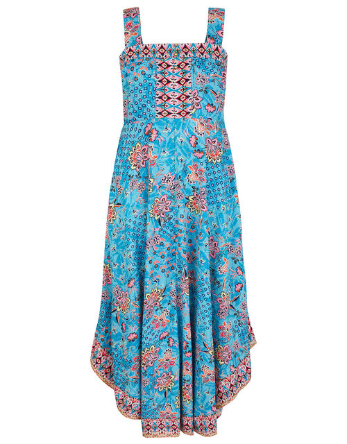 Printed Midi Dress in LENZING™ ECOVERO™, Blue (BLUE), large