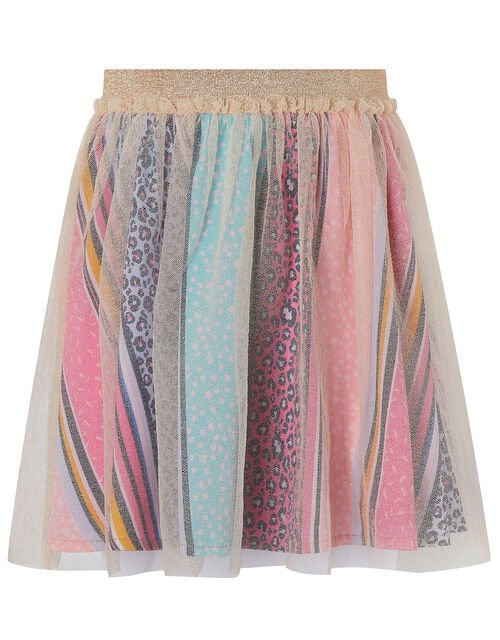 Lily Shimmer Tutu Skirt with Printed Lining, Pink (PINK), large