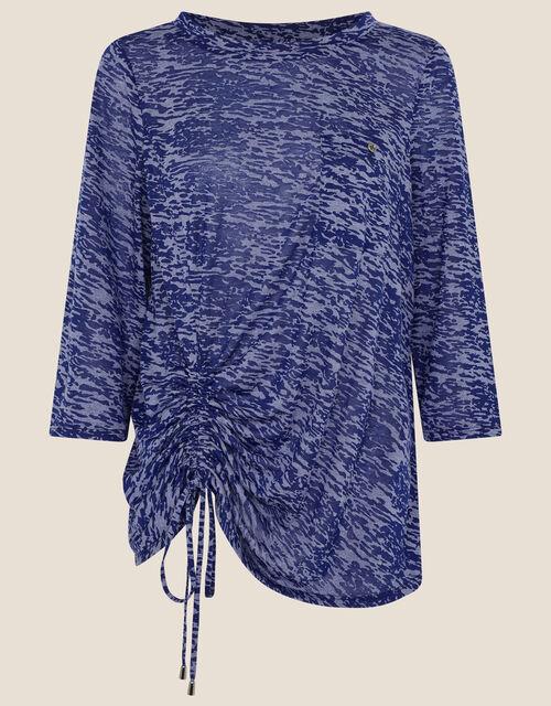 LOUNGE Beatrice Burnout Jersey Top, Blue (BLUE), large