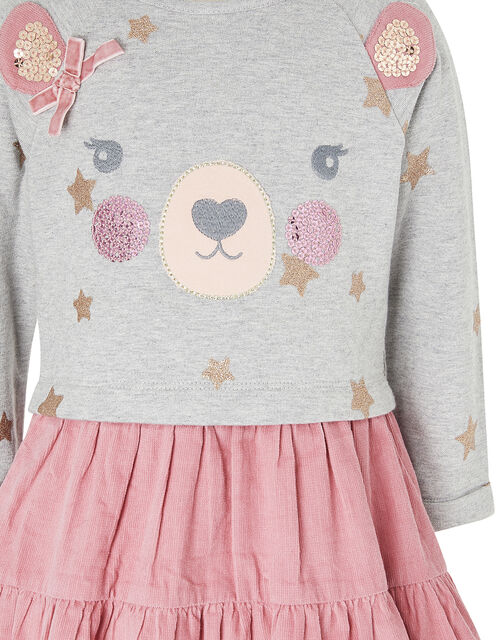 Baby Bear 2-in-1 Dress in Pure Cotton, Pink (PINK), large