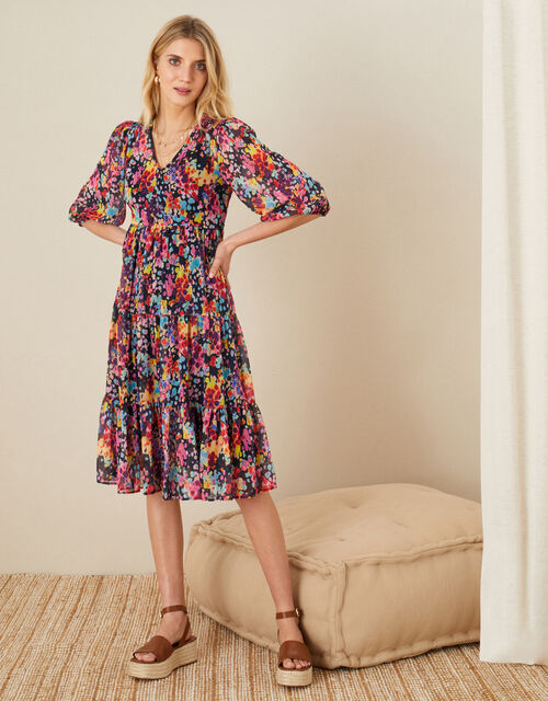 Helen Dealtry Suvi Printed Tunic Dress, Blue (NAVY), large