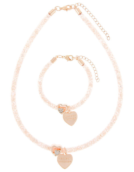 Diamante Charm Encased Trinket Set, , large