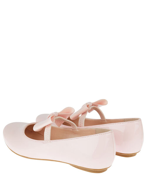 Patent Bow Ballerina Flats, Pink (PINK), large