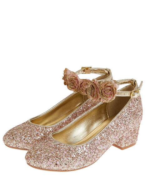 Cancan Glitter Heeled Shoes Pink, Pink (PINK), large