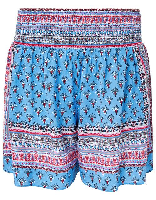 Dahlia Printed Shorts in LENZING™ ECOVERO™ , Blue (BLUE), large