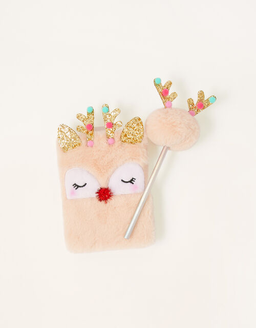 Christmas Reindeer Notebook and Pencil Set, , large