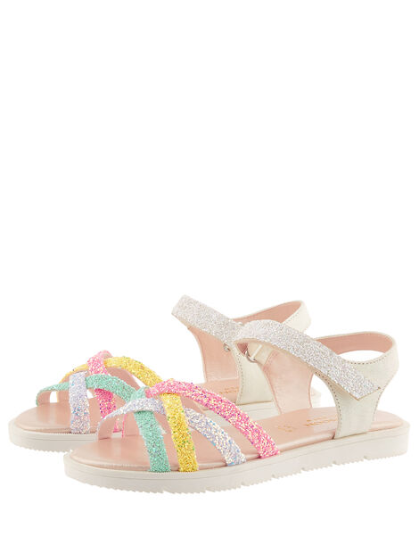 Glitter Rainbow Sandals Multi, Multi (MULTI), large