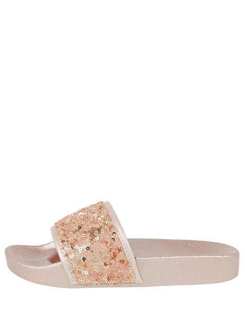 Dazzle Sequin Sliders, Pink (PALE PINK), large