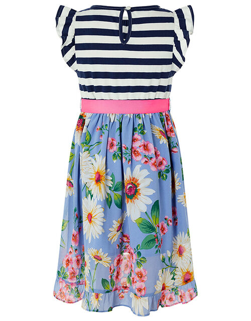 Dulcie 2-in-1 Stripe and Floral Dress, Blue (BLUE), large