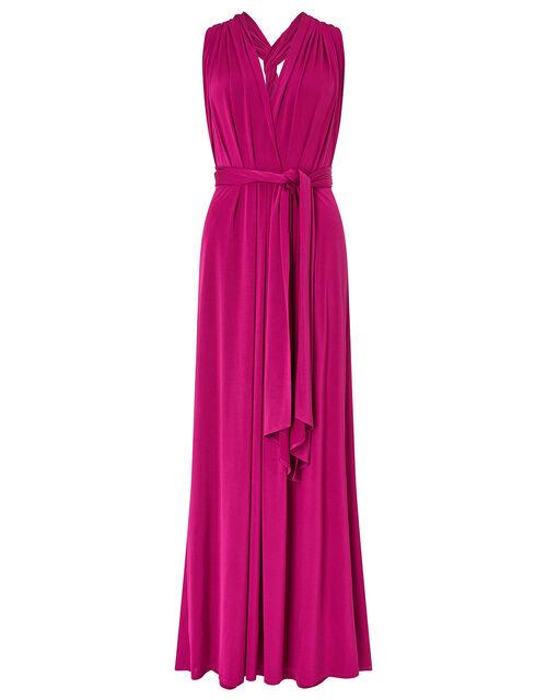 Tallulah Twist Me Tie Me Jersey Bridesmaid Dress, Pink (PINK), large