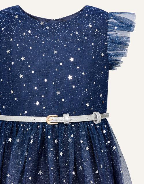 Star Print Ombre Dress, Blue (NAVY), large