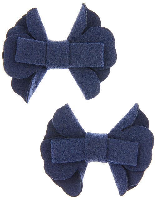 Bow School Hair Clips, , large