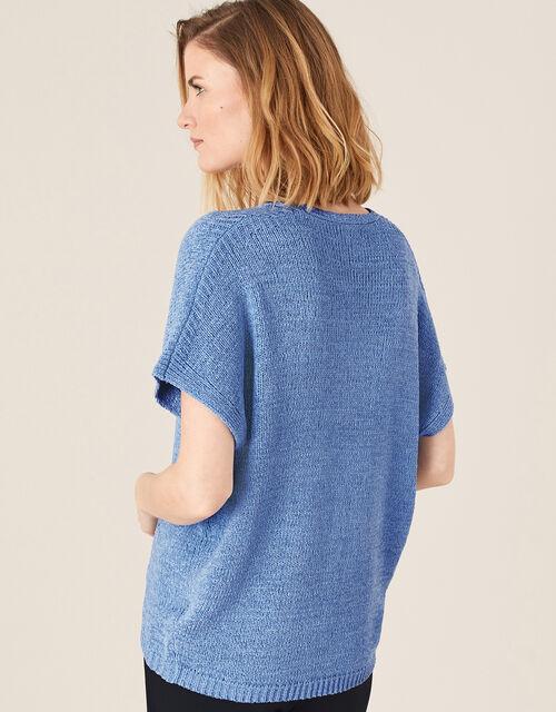 Tyla Tape Yarn Jumper, Blue (BLUE), large