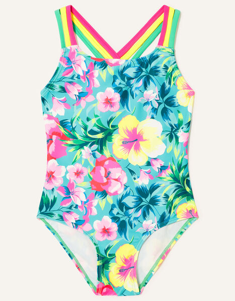 Tropical Floral Swimsuit Green, Green (GREEN), large