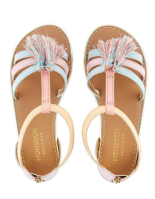 Rainbow Tassel Sandals, Multi (MULTI), large