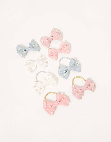Pearly Bow Hair Accessory Set, , large