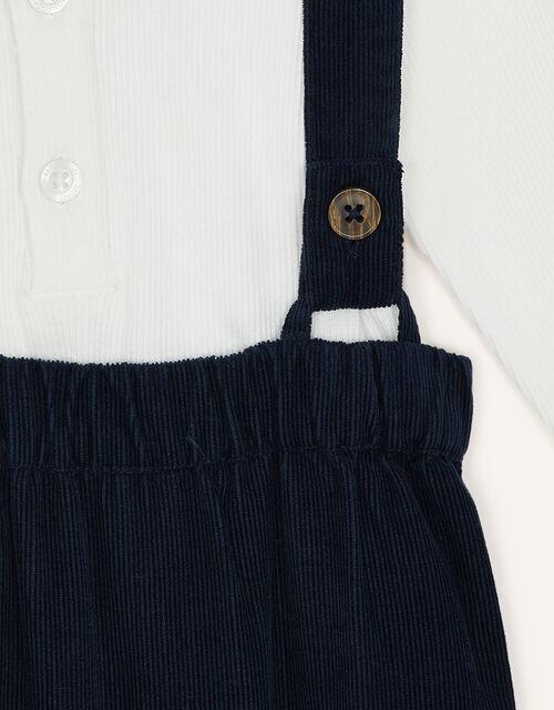 Newborn Smart Braces and Top Set, Blue (NAVY), large