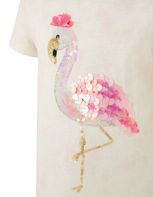 Sequin Flamingo T-Shirt, Pink (PINK), large