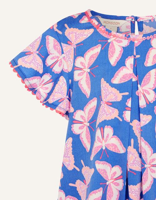 Butterfly Swing Dress, Blue (BLUE), large