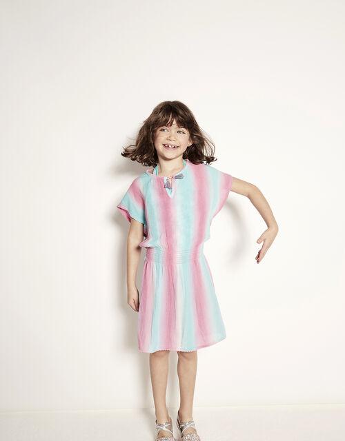 Tie Dye Kaftan Dress in LENZING™ ECOVERO™, Multi (MULTI), large