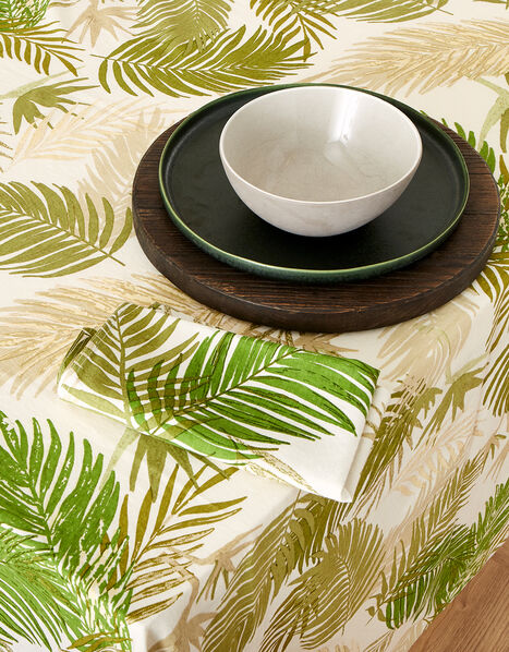 Palm Print Tablecloth, , large