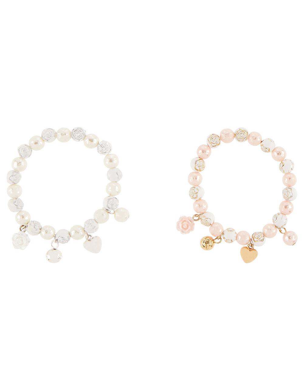 Rose Pearl Trinket Bracelet Set , , large