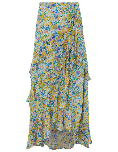 Helen Dealtry Louis Floral Wrap Skirt, Blue (BLUE), large
