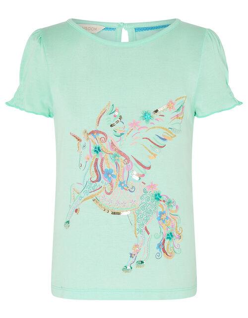Unicorn Top in LENZING™ ECOVERO™, Blue (AQUA), large