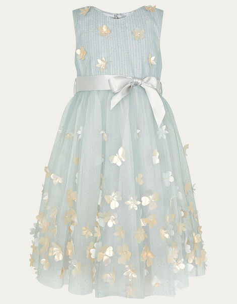 3D Petal Dress Grey, Grey (GREY), large