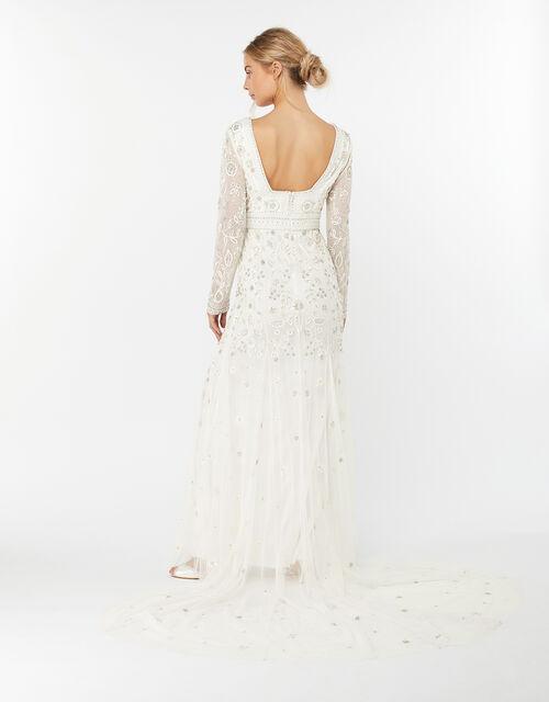 Elizabeth Embellished Wedding Dress, Ivory (IVORY), large