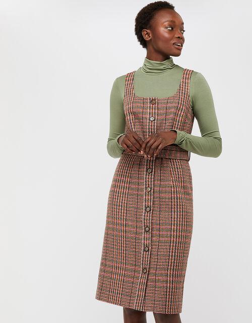 Patsy Check Dress, Brown, large